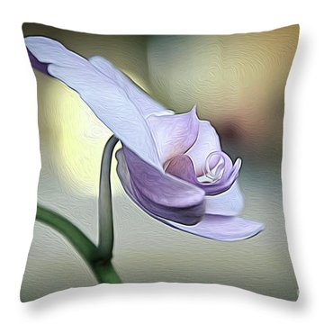 Standing Alone In Silence Throw Pillow
