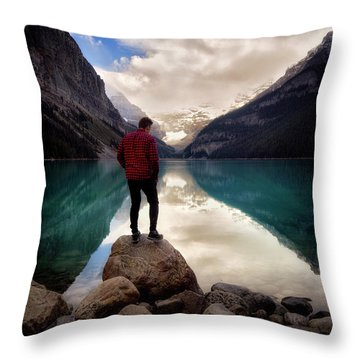 Standing Alone Throw Pillow by Nicki Frates