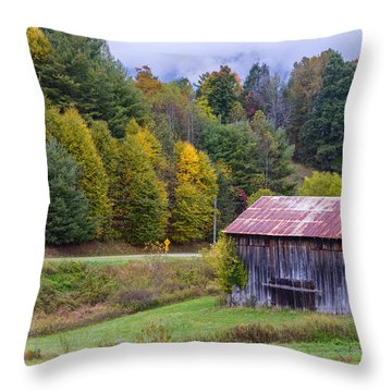 Tenessee Roadside Barn Throw Pillow