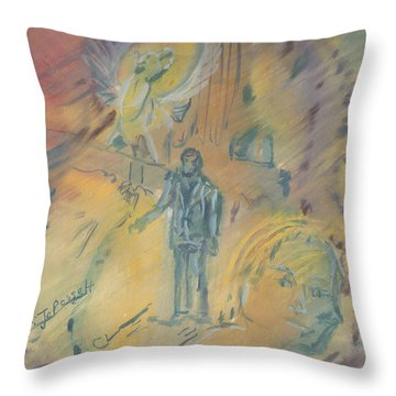 Standing At The Crossroads Throw Pillow