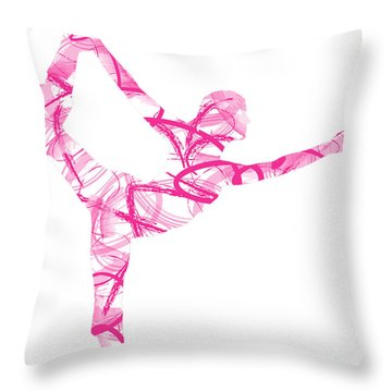 Yoga Pose Asana Standing Bow Pose Throw Pillow