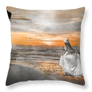 Standing By My Word Throw Pillow by Betsy Knapp
