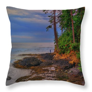Standing By The Sea Throw Pillow