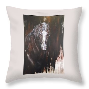 Standing Firm Throw Pillow by Heather Roddy