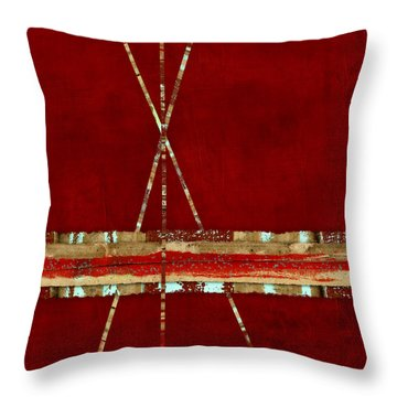 Throw Pillow featuring the photograph Standing Ground Square Format by Carol Leigh