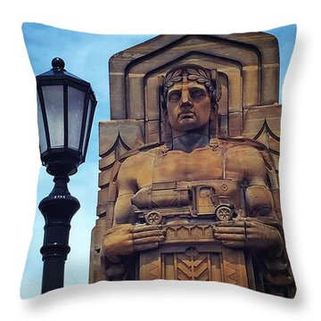 Standing Guard Over The Lorain-carnegie Throw Pillow