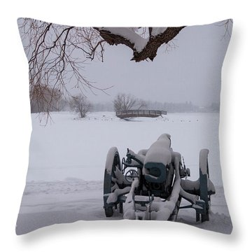 Standing Guard Throw Pillow