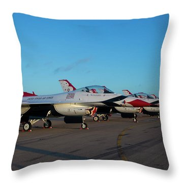 Standing In Formation Throw Pillow