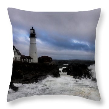 Standing In The Storm Throw Pillow