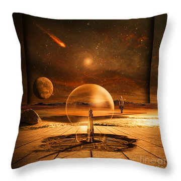Standing In Time Throw Pillow