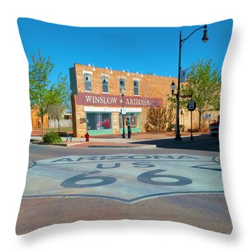 Standing On A Corner Throw Pillow by Charles Ables