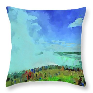 Standing On The Brink Throw Pillow