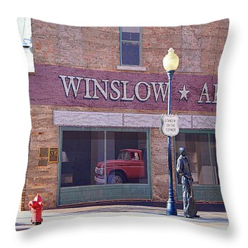 Throw Pillow featuring the photograph Standing On The Corner by AJ Schibig