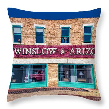 Eagles - Standing On The Corner  Throw Pillow