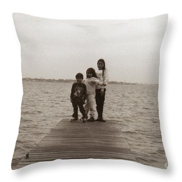 Standing On The Dock Of The Bay. Throw Pillow