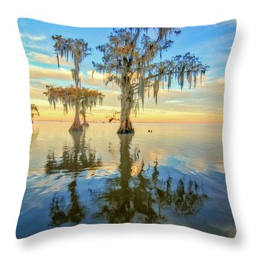 Standing On The Edge Throw Pillow