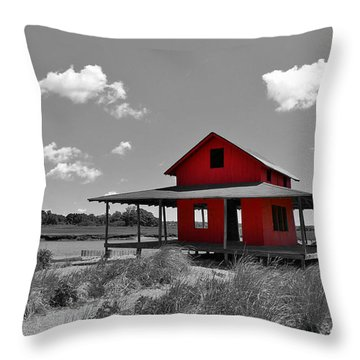 Standing Out All Alone Throw Pillow