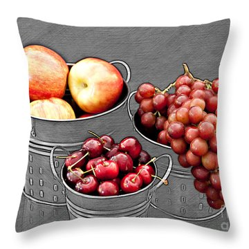Throw Pillow featuring the photograph Standing Out As Fruit by Sherry Hallemeier