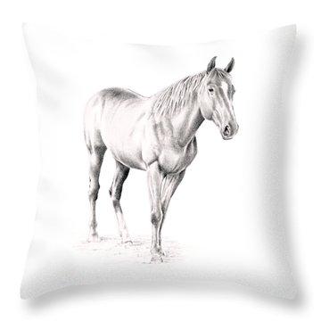 Standing Racehorse Throw Pillow
