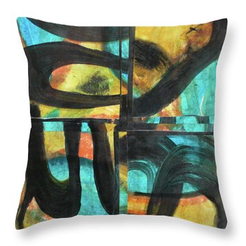 Honoring Standing Rock Water Protectors Throw Pillow by Mary Sullivan