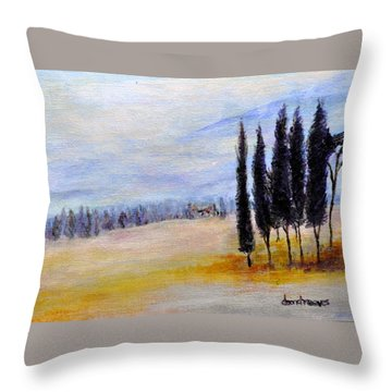 Standing Tall Throw Pillow by Dottie Branchreeves