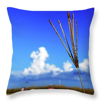 Throw Pillow featuring the photograph Standing Tall by Gary Wonning