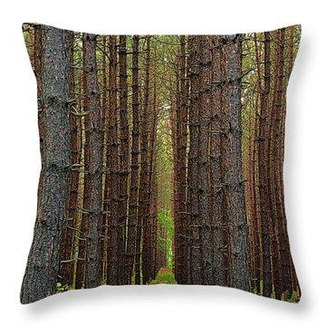 Standing Tall - Hills Creek State Park Throw Pillow
