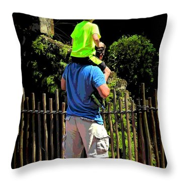 Throw Pillow featuring the photograph Standing Tall by Laura Ragland