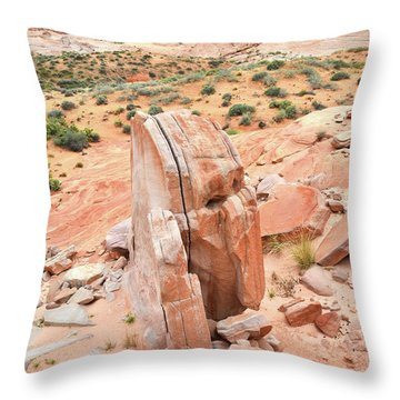 Throw Pillow featuring the photograph Standup Sandstone In Valley Of Fire by Ray Mathis