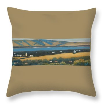 Throw Pillow featuring the painting Stanford By The Bay by Gary Coleman