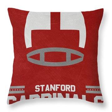 Stanford Cardinals Vintage Football Art Throw Pillow