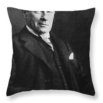 Stanley Baldwin, English Politician Throw Pillow by Photo Researchers