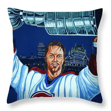 Stanley Cup - Champion Throw Pillow by Juergen Weiss