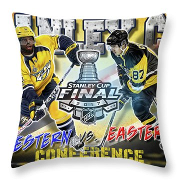 Stanley Cup 2017 Throw Pillow