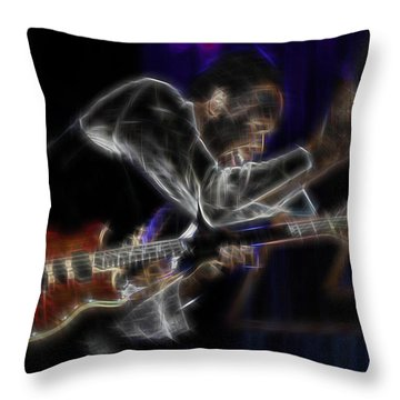 Throw Pillow featuring the digital art Stanley by Kenneth Armand Johnson