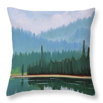 Stanley Lake - Far Shore Throw Pillow