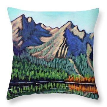 Stanley Lake Throw Pillow