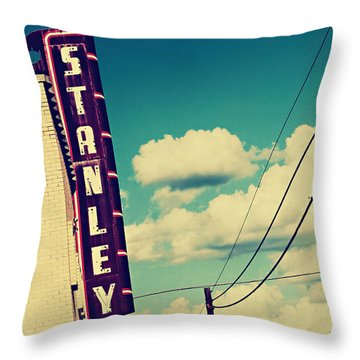Throw Pillow featuring the photograph Stanley by Trish Mistric