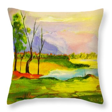 Stanthorpe Wine In My Glass Throw Pillow