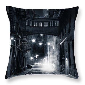 Staple Street Skybridge By Night Throw Pillow