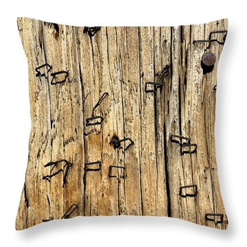Stapled Throw Pillow