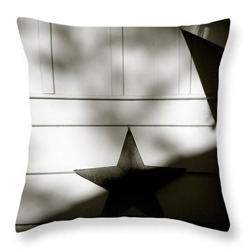Star And Stripes Throw Pillow by Dave Bowman