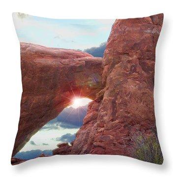 Throw Pillow featuring the digital art Star Arch by Gary Baird