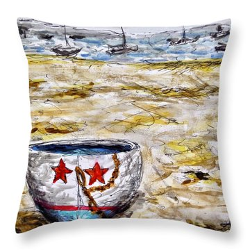 Star Boat Throw Pillow
