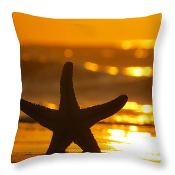Star Bokeh Throw Pillow