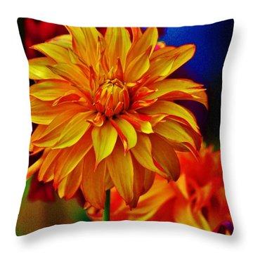 Star Burst Throw Pillow by Craig Wood