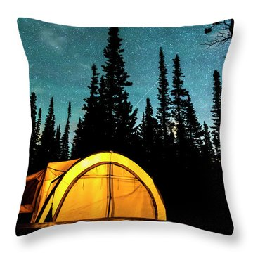 Throw Pillow featuring the photograph Star Camping by James BO Insogna