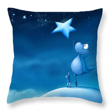 Star Catching Throw Pillow