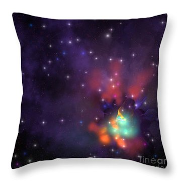 Star Cluster Throw Pillow by Corey Ford