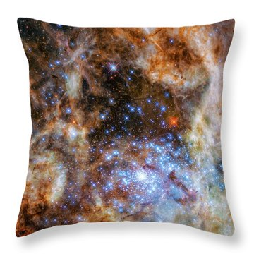Throw Pillow featuring the photograph Star Cluster R136 by Marco Oliveira